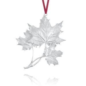 Amos Pewter Maple Leaf Collector Ornament 2004